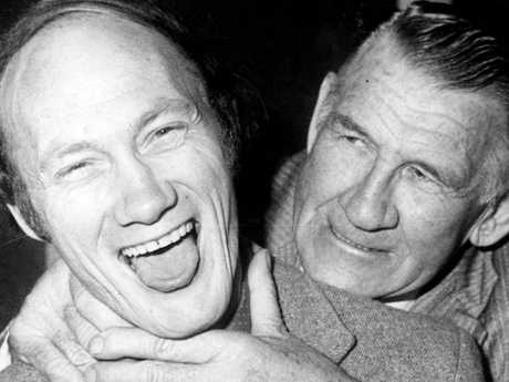 Kevin Bartlett with Jack Dyer.