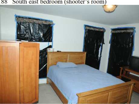 Adam Lanza's bedroom. Documents have suggested the 20-year-old spent much of his time here. Picture: AP