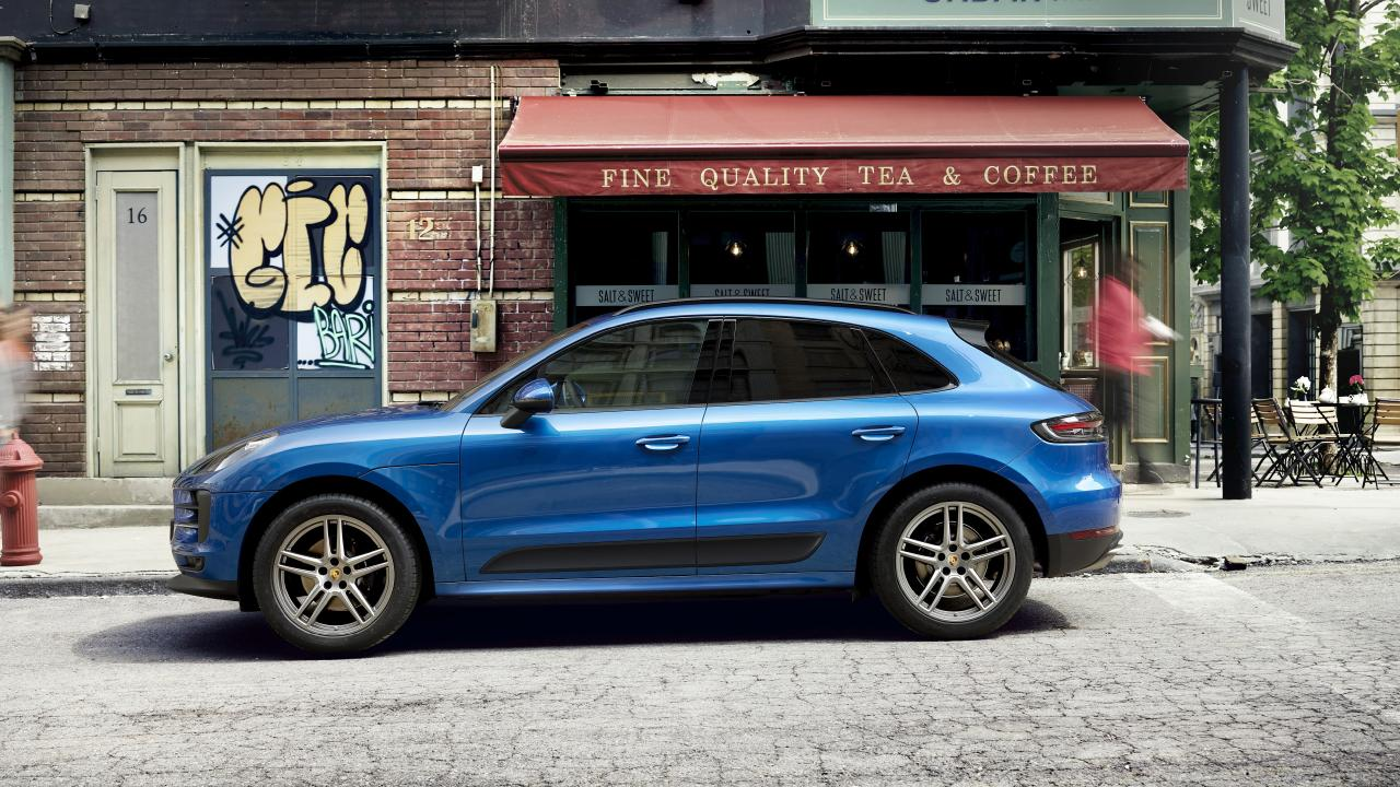 The Macan sports Porsche's classic styling.