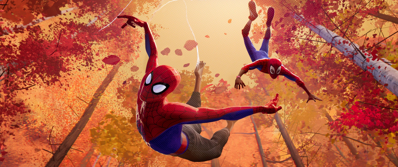 A scene from the movie Spider-Man: Into The Spider-Verse.