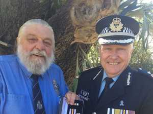 Former cop's medal a reward for not giving up on dream