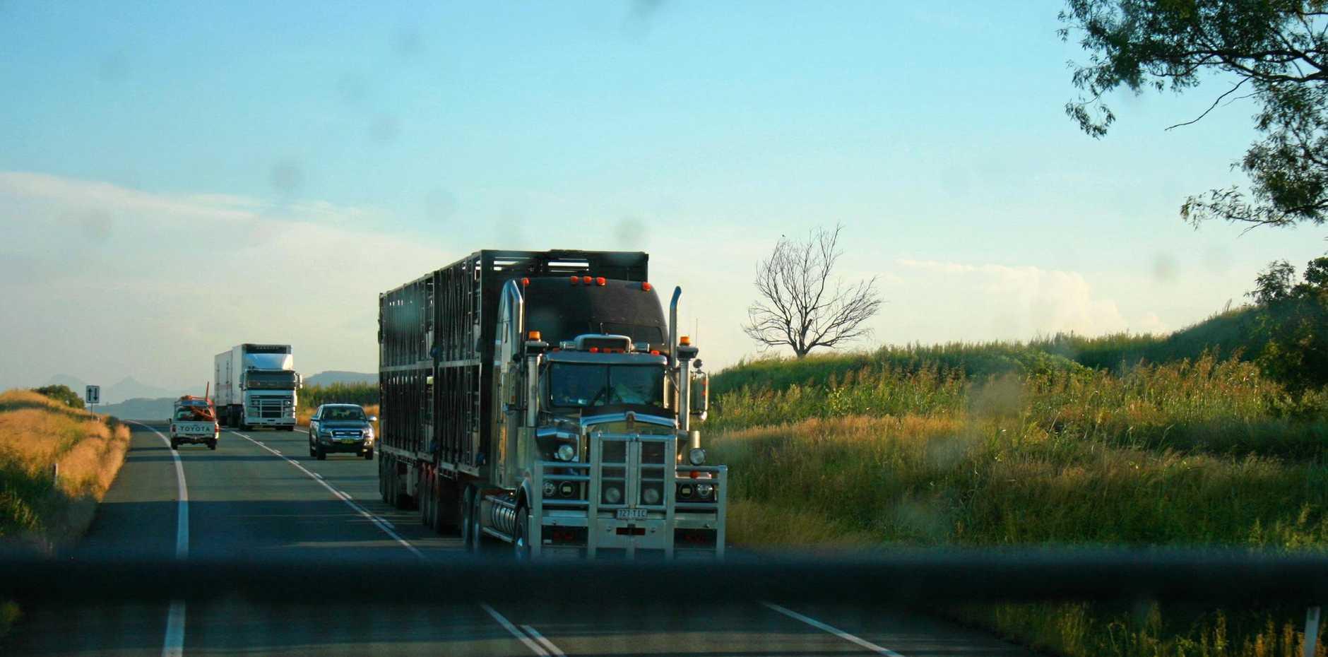 truck stock photo/ highway / file/ generic