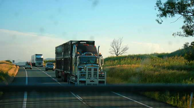truck stock photo/ highway / file/ generic