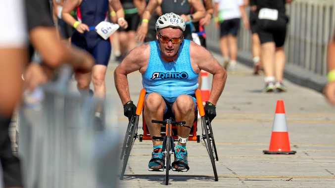RACING SPIRIT: Mick Darlow is readying himself for the 2019 Coffs Tri.