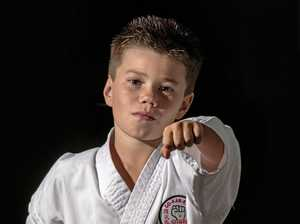 Karate champ celebrates with pizza for breakfast