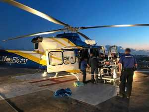 Rider airlifted to hospital after early morning crash
