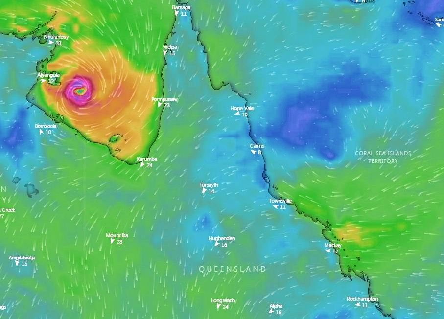 BUILDING STRENGTH: Tropical Cyclone Owen is back and threatening to hit Queensland with strong wind and rain this weekend.