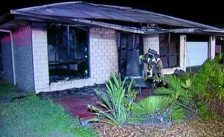 HOUSE FIRE: Police are investigating the blaze on Dean St at Glen Eden, which occurred early Tuesday morning.
