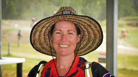 Organiser Ally Perry at the Central Queensland Development Clinic held at Benaraby Raceway.