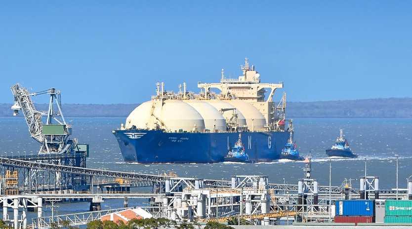 RECORD MONTH: LNG tanker arriving in Gladstone harbour in November.