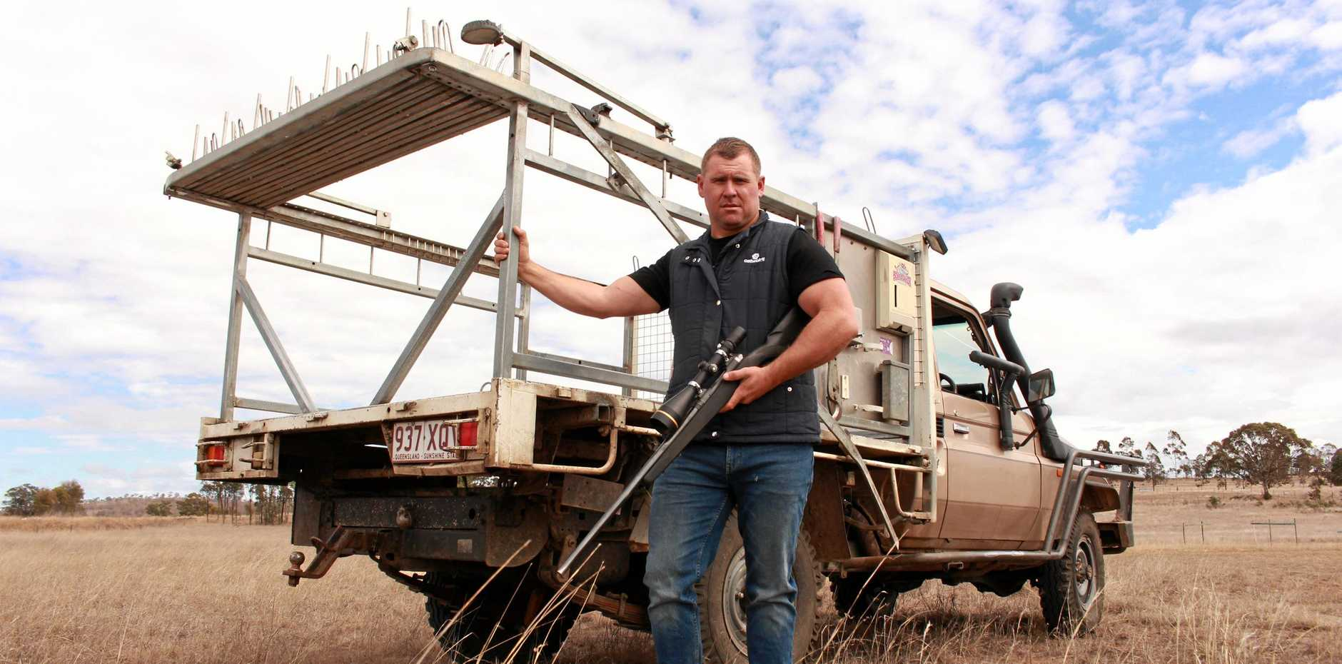 Kangaroo shooter Lucas Riley has been in discussions with Southern Downs Regional Council over getting approvals for semi-trailer access to his property on Warwick's outskirts.