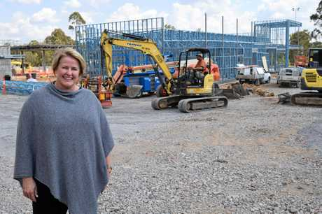 OPENING SOON: Lisa Mackintosh at the site of the new Camira McDonald's.