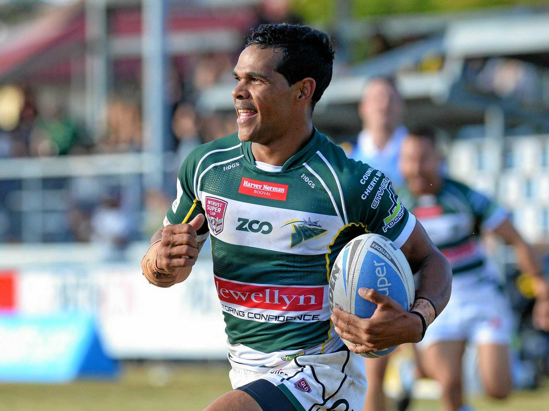 Ipswich Jets V Norths Devils played at Bishop Park at Nundah on Sunday. Michael Purcell.