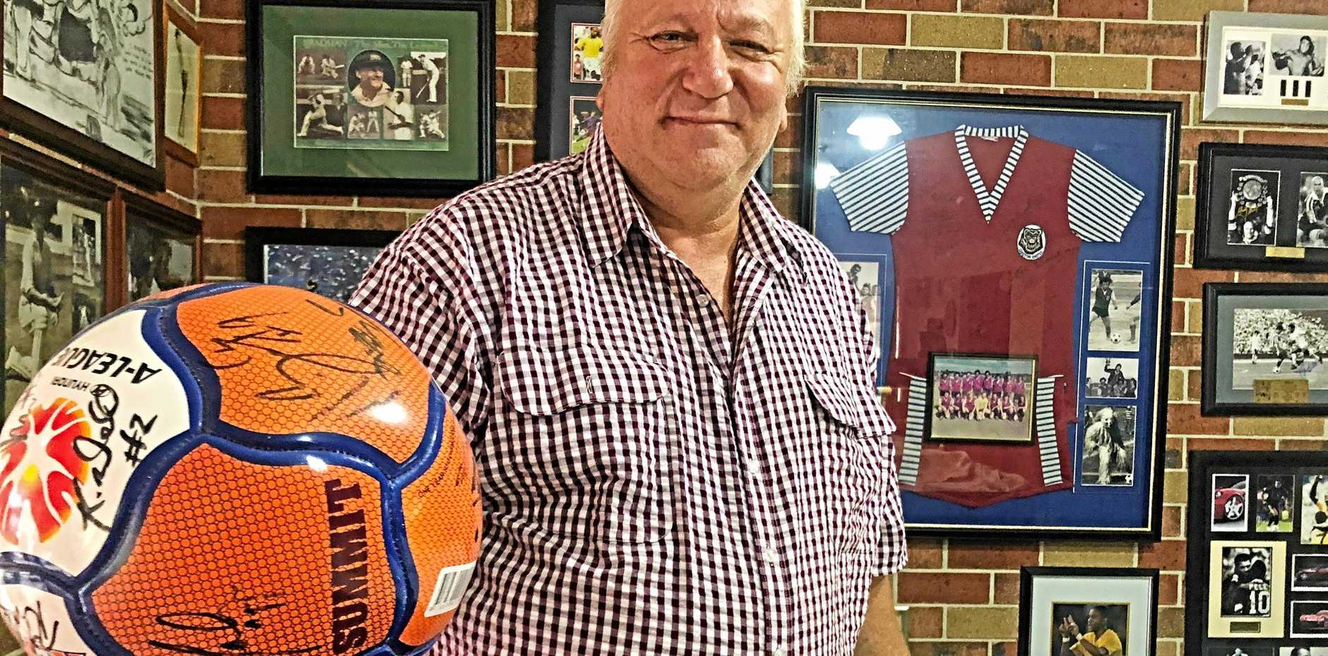 STEPPING IN: Football Stanthorpe patron Vic Pennisi has taken on the president's role until someone else puts up their hand.