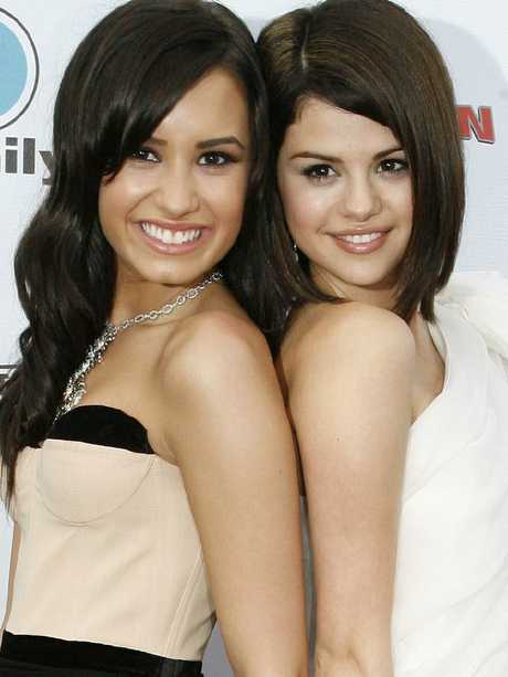 Demi Lovato and Selena Gomez. Picture: Splash