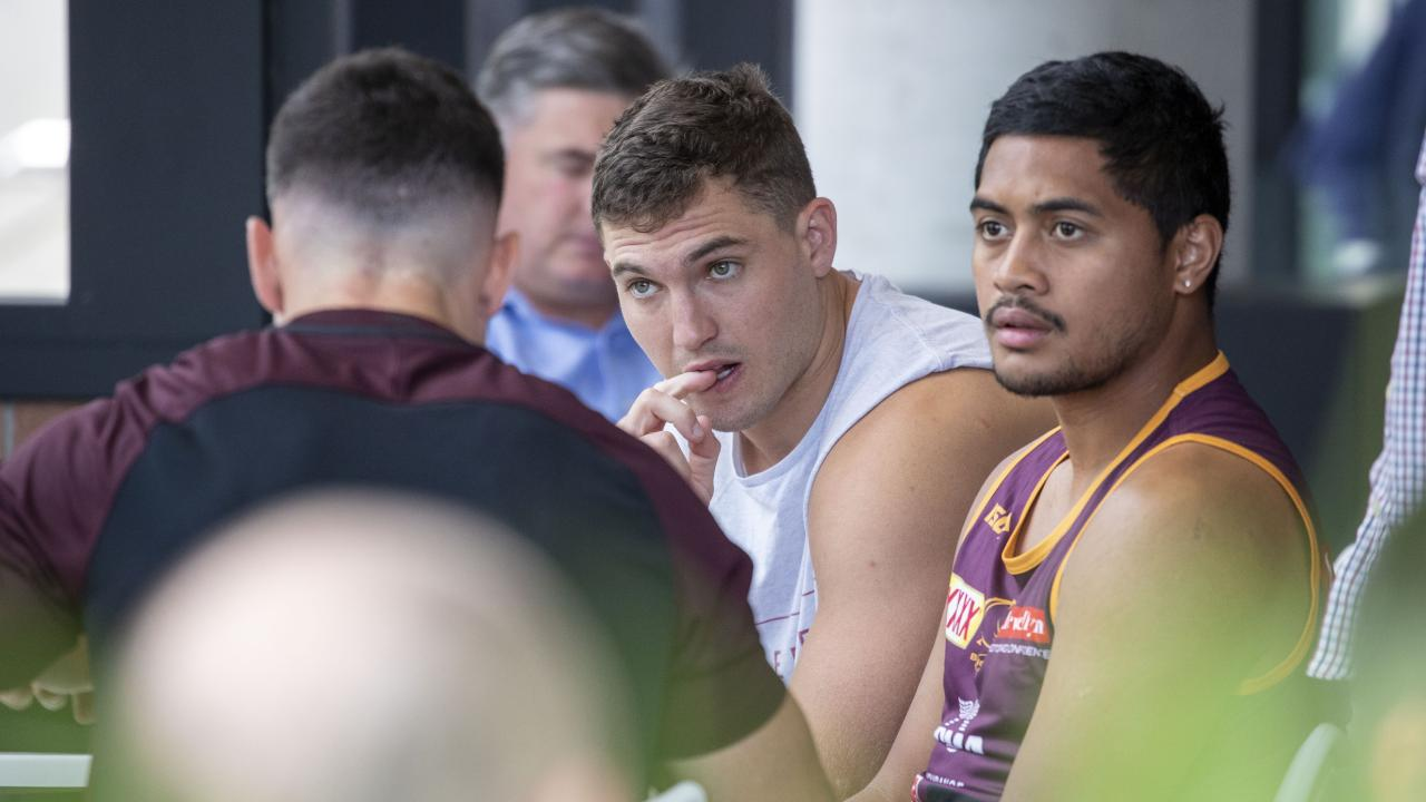 The Broncos players had no more info than anyone else. (AAP Image/Glenn Hunt)