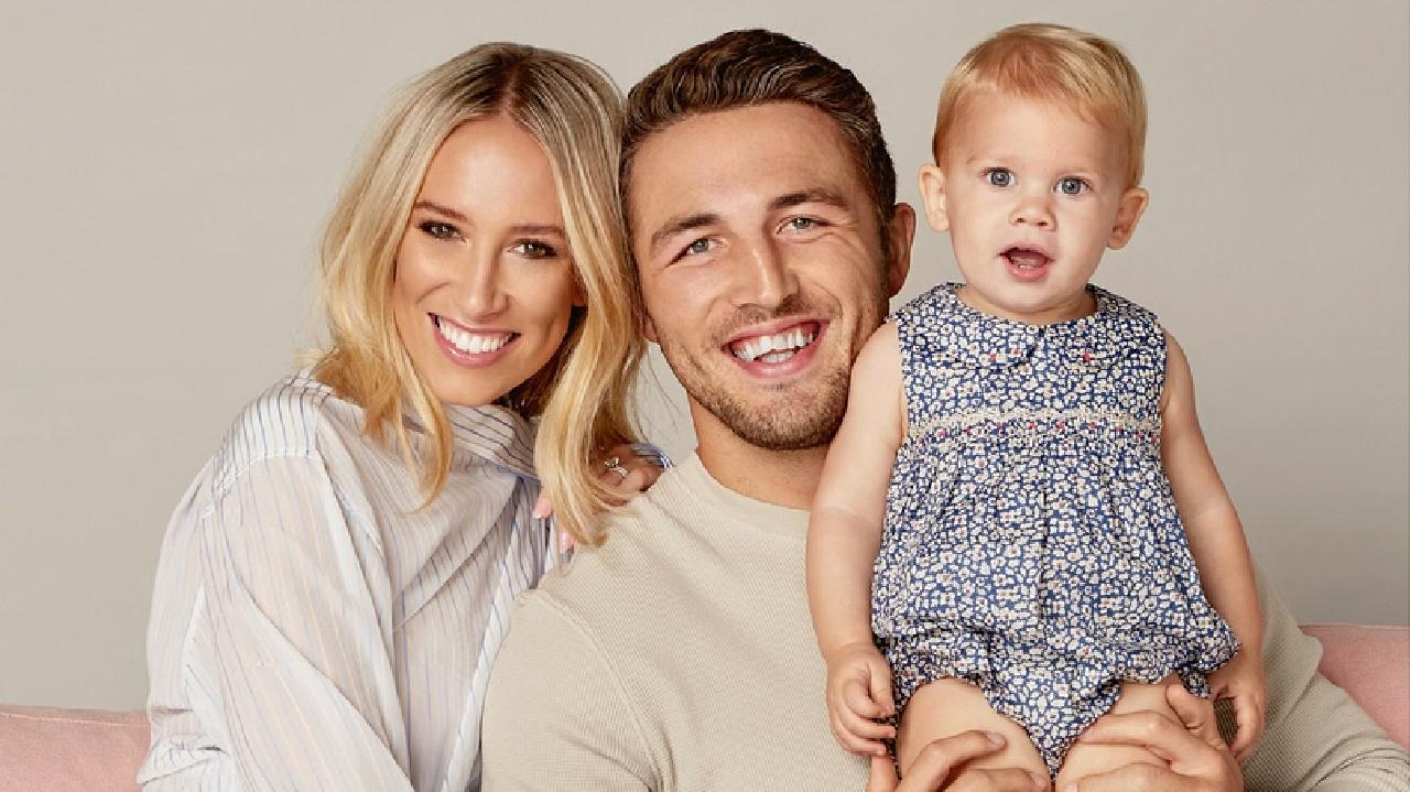 Sam and Phoebe Burgess with their daughter Poppy. Picture: Instagram