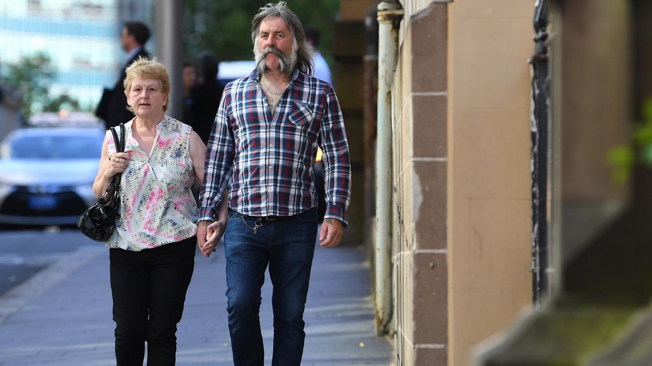 The parents of Cathrina Cahill, Rita Cahill (left) and Daniel Cahill (right) arrive for her sentence hearing at the Supreme Court in Sydney, Tuesday, November 13, 2018. Picture: AAP /Dean Lewins.