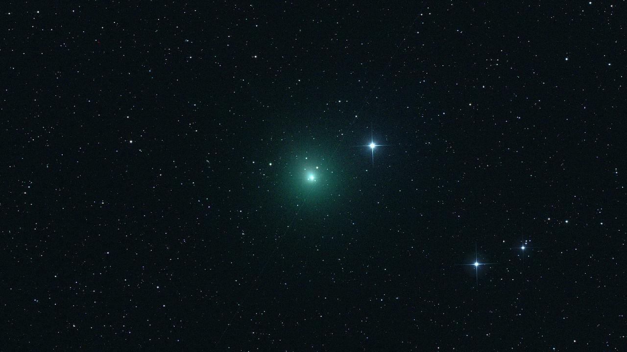 The 'Christmas Comet' (46p/Wirtanen) photographed when 15,800,000 km distant. Picture Flickr/Pepe Manteca
