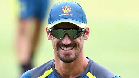Mitchell Starc was back in the nets despite the short turn around. Picture: AAP