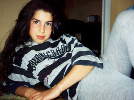 Amy Winehouse as a teenager. Picture: Supplied