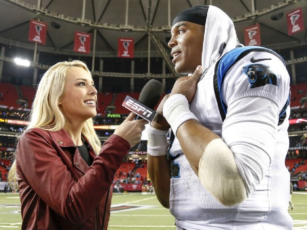 Britt McHenry in action for ESPN