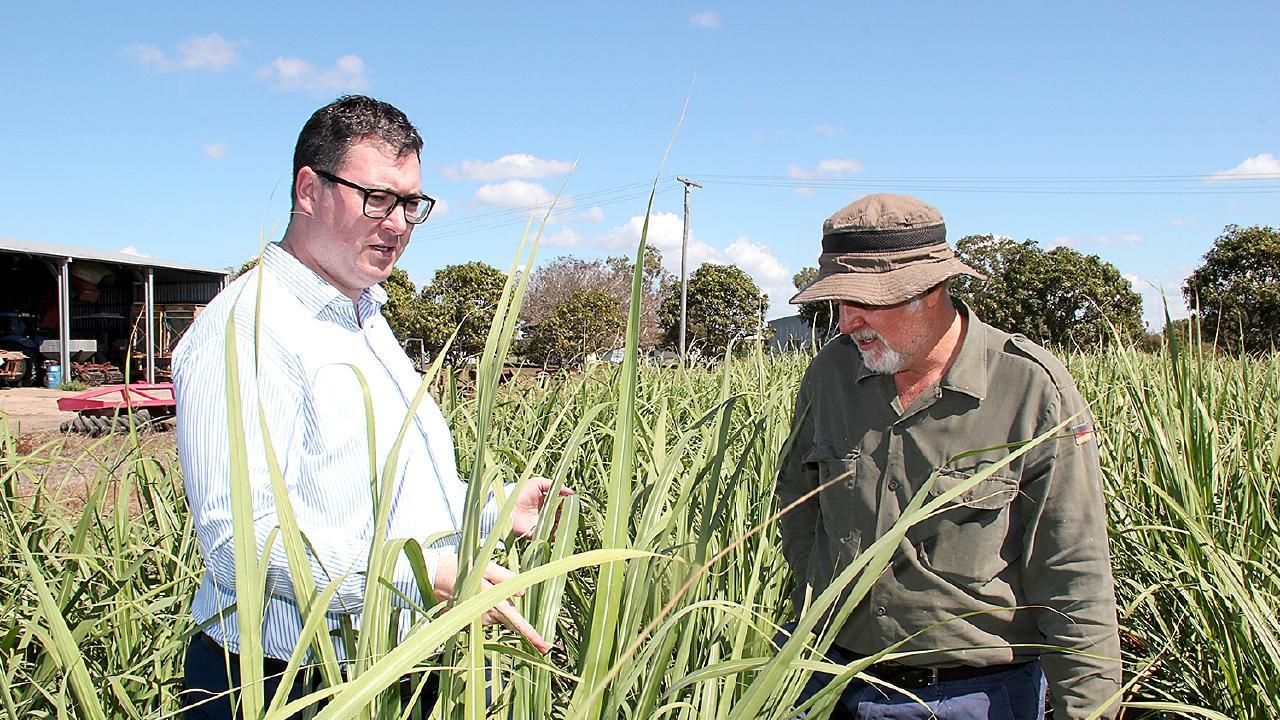 Dawson MP George Christensen with Canegrowers Burdekin chairman Phil Murano.