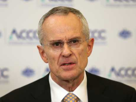 ACCC chairman Rod Sims talks about the preliminary report into Google, Facebook and Australian news and advertising. Picture: Hollie Adams