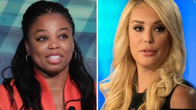 Jemele Hill and Britt McHenry on air