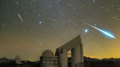 Geminids over the LAMOST Telescope, Xinglong Hebei Province, China. Picture: Yu Jun.