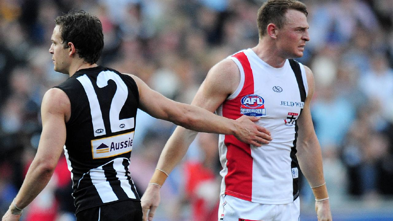 Former teammate Luke Ball understood Goddard's pain after the Pies won the grand final replay.