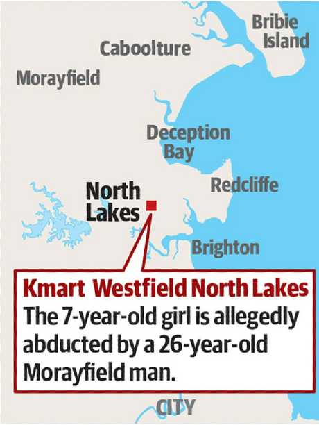 Map of alleged abduction, assault of child
