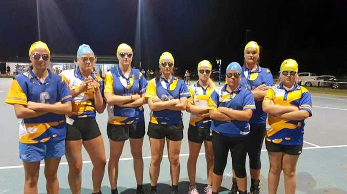 NETBALL: Best-dressed team, the Flipping Fish, took to the court sporting swim caps and goggles but were happy to leave the flippers at the door.