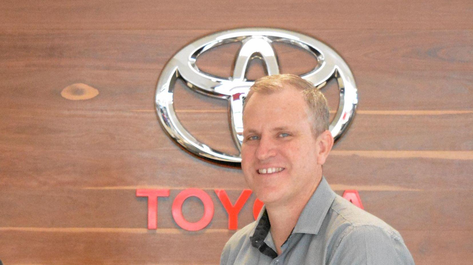 BIG DEAL: Gladstone Suns president Joe Walsh and Bill Robertson Toyata dealer principal James Robertson.