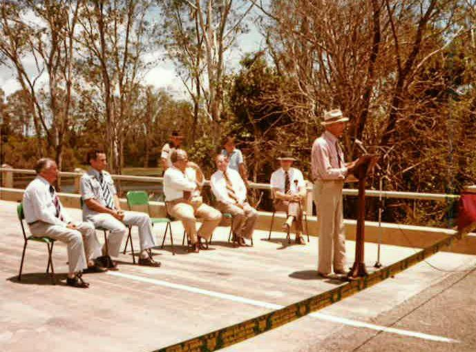 Gooburrum Shire Council Chairman in 1978 Basil McLellan on the bridge's opening day.