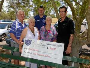 Sports club donates thousands to drought relief