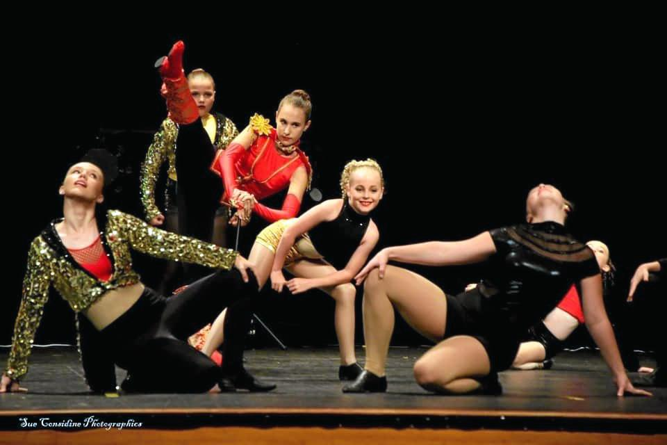 Performers from Adore Dance at the fundraiser for the Rural Fire Service Bloomsbury.