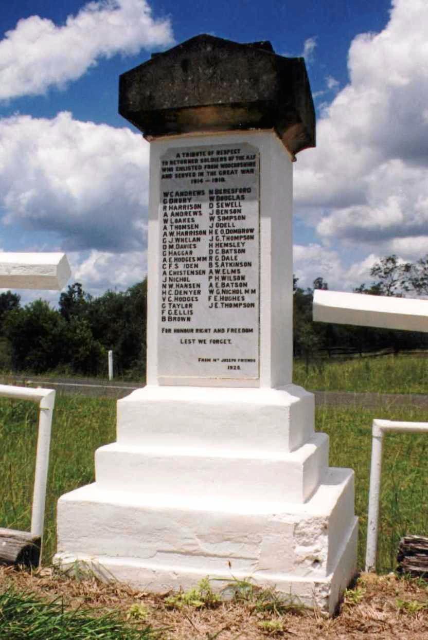 Bridge Creek memorial near Brooweena.