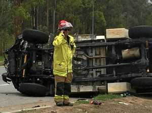 WATCH: Live at scene of a serious highway crash at Curra