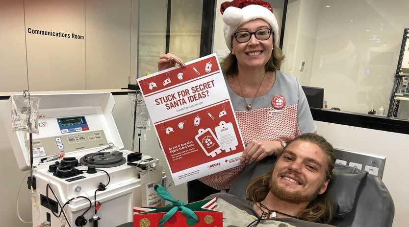 Sandee Thompson and Alex Hailfinger prepare for the biggest secret santa challenge.