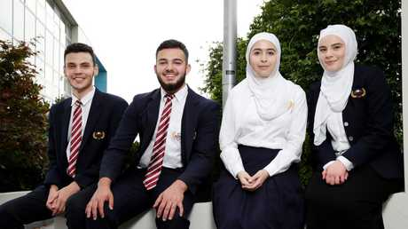 Students at Al Noori Muslim School in Greenacre lifted three places to number 42. Picture: Jonathan Ng