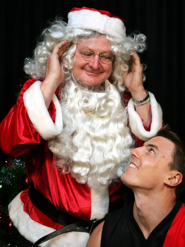 Santa warned young Matthew that if he was naughty he'd end up as a spearhead on the Gold Coast.