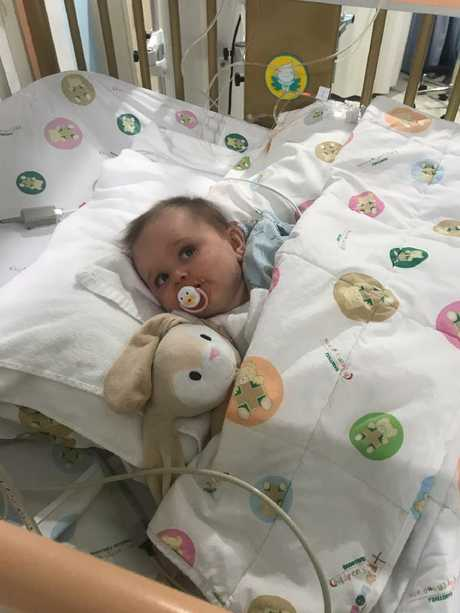 Lilliana Sheridan is recovering in a Bangkok hospital after surgeons operated on her legs.