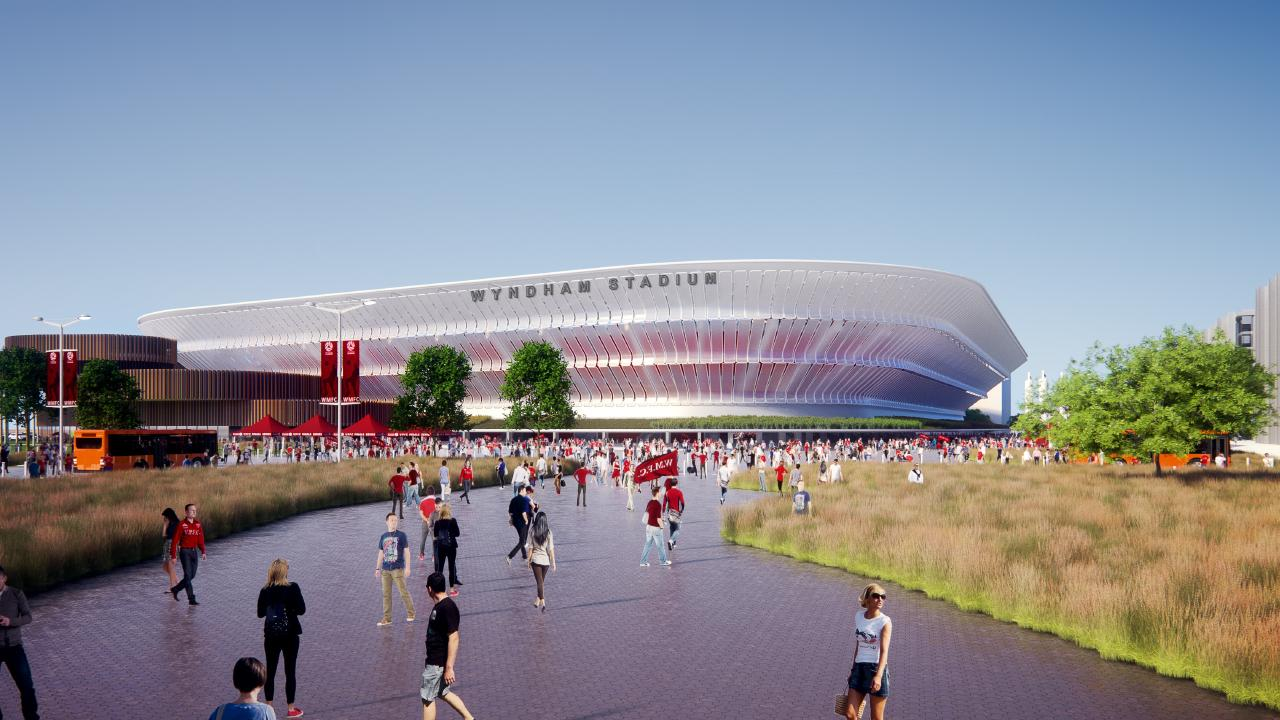 Artist impression of new A-League Western Melbourne stadium