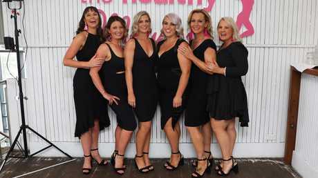 The six mums who lost 200kg collectively. (L to R) Sally, Rebecca Jackson, Stephanie Marriott, Chloe, Jennifer Wright, Zena Mason
