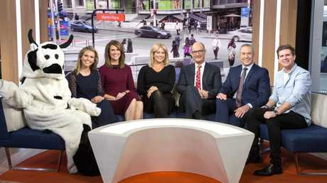 Sunrise have locked in Edwina Bartholomew, Natalie Barr, Samantha Armytage, David Koch, Mark Beretta and Sam Mac for 2019. Picture: Seven Network
