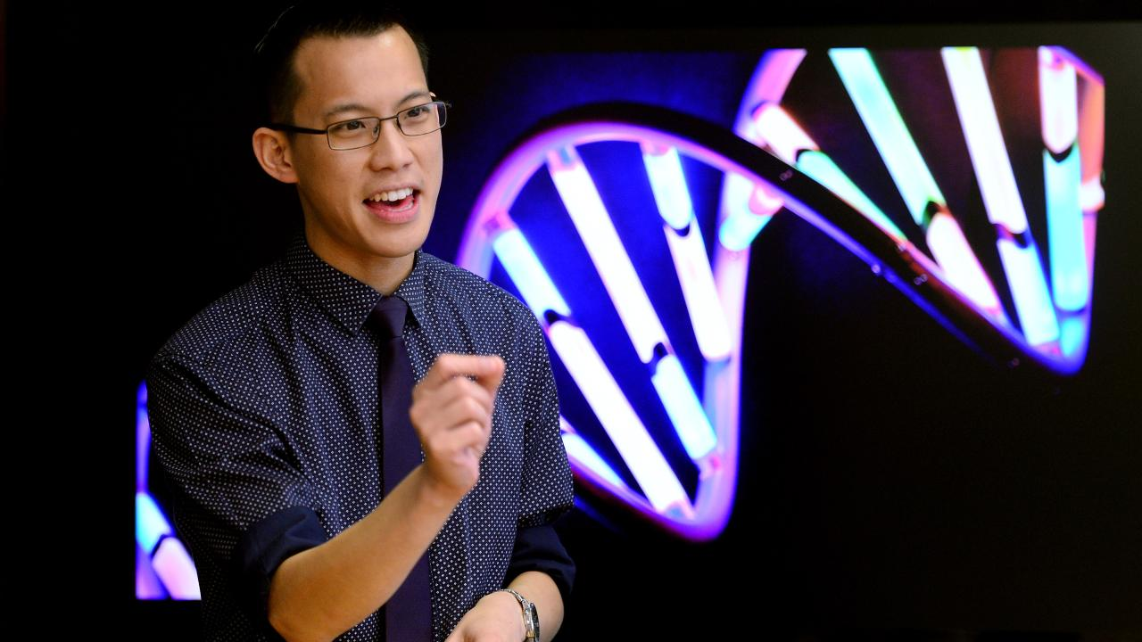 Former Cherrybrook Technology High School maths teacher Eddie Woo. Picture: Mark Brake