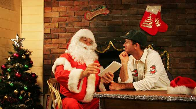 CRICKET- Christmas Picture - Australian Captain Ricky Ponting with his Christmas list for Santa.- pic. Phil Hillyard.