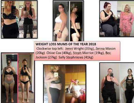 Six women have been voted as the Weight Loss Mums of the Year for losing 200kg collectively.