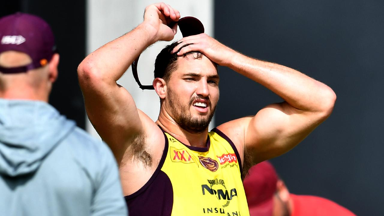 Corey Oates is resigned to finishing his NRL career as a winger. Picture: AAP